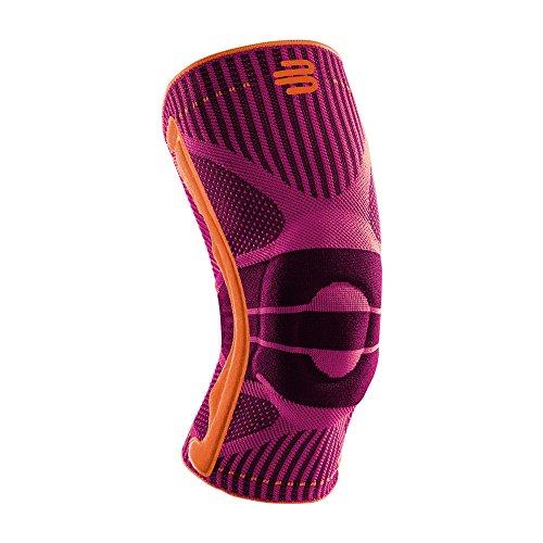 Bauerfeind, 1 Unisex Knie-Sportbandage, Rechts und links tragbar, Für Ballsportarten und Leichtathletik, Unterstützung des Knies beim Sport, Silikonring, Gr. XS, Pink, 11449411950010 (Band Xs Pink)