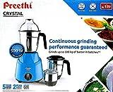 Preethi MG 224 550 Juicer Mixer Grinder Blue, (3 Jars)