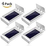 LE® Zweite Generation 4er Pack 16 LEDs LED Solarleuchten Mit