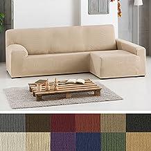 Funda de Sofá Chaise Longue Elástica Modelo Hércules, Color GRIS (C/06), con Brazo DERECHO (Mirándolo de frente)