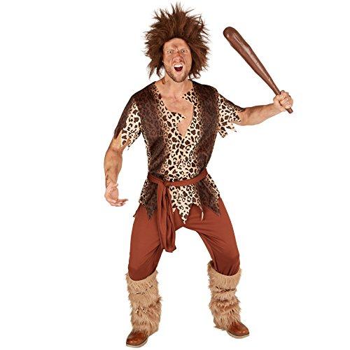 dressforfun Herrenkostüm Steinzeitmann Neandertaler | Höhlenmensch Verkleidung | inkl. Gürtel und Beinstulpen (M | Nr. - Kostüme Höhlenmenschen