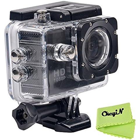 CkeyiN ® 1080P Full HD Impermeable Cámara de Acción Deportiva con Pantalla LCD de 2.0 Pulgadas