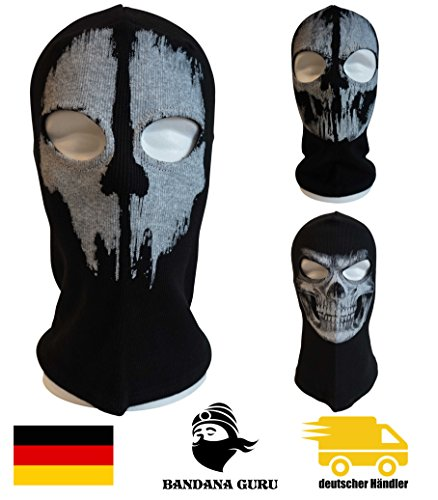 Bandana Guru Sturmhaube Geister Totenkopf Schädel Maske Balaclava Ghosts Skimaske Motorradmaske Windmaske Snowboardmaske für Outdoor Sport Paintball (Skull Ghosts) | 00729389599386