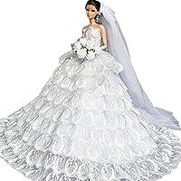 40ebdf62526381 Creation Herrliche Art und Weise Hochzeit Kleid Kleider   Kleidung für  Barbie
