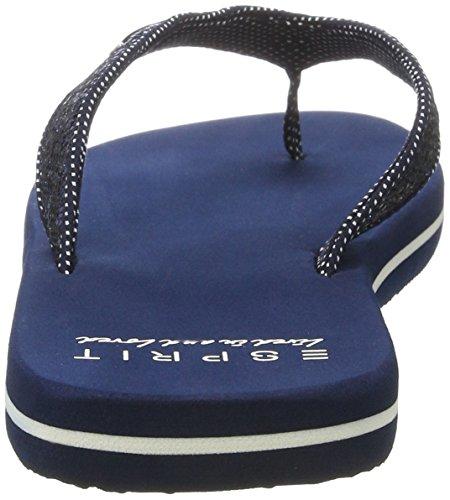 Esprit Glitter Thongs, Sabots Femme Bleu (400 Navy)