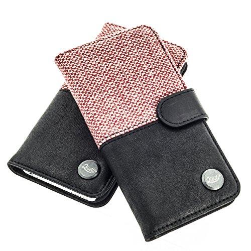 QIOTTI Hülle Kompatibel mit iPhone 6s iPhone 6 Ledertasche aus Hochwertigem Leder mit Kartenfach