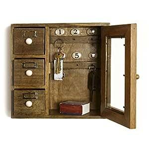 Schlüsselkasten, aus Holz mit drei Schubladen: Amazon.de