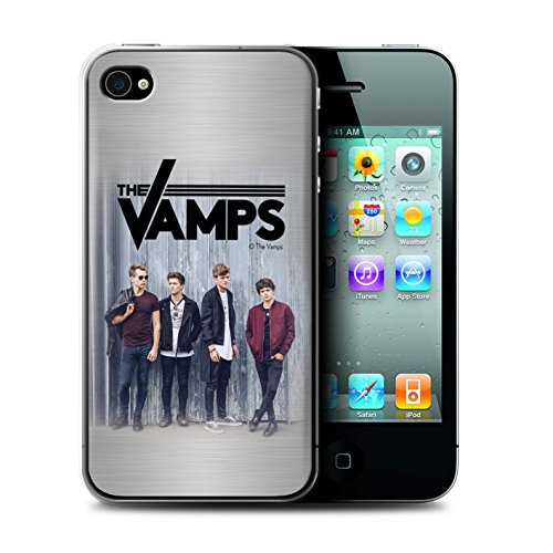Offiziell The Vamps Hülle / Case für Apple iPhone 4/4S / Pack 6pcs Muster / The Vamps Fotoshoot Kollektion Gebürstetes