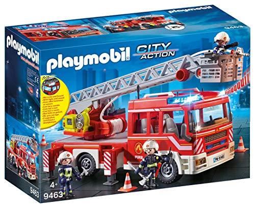 PLAYMOBIL City Action Camión Bomberos Escalera, Luces