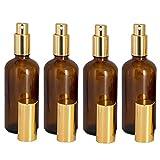 GBOAT 4PCS 50 ml aus Braunglas Parfümzerstäuber Sprühflasche Kosmetik Zerstäuber Beauty Glas Sprühflasche für Reisen Amber Farb