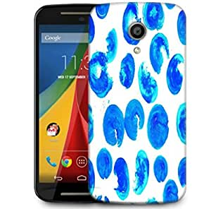 Snoogg Blue Abstract Paint Designer Protective Phone Back Case Cover For Motorola G 2nd Genration / Moto G 2nd Gen