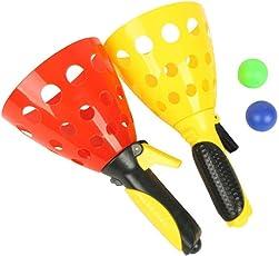 SUPERMALL Kids Plastic Hand Basketball Set (Multicolour) - Pack of 2