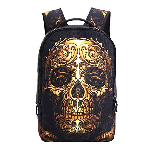 (Teenager Mädchen Rucksack Rucksack Daypack Printed Funky Designs 20L Kapazität Kinder Teenager Schultaschen Geeignet Für Jungen Oder Mädchen,Gold-31 * 15 * 48)