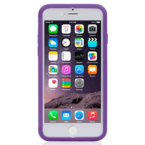 Phone case & Hülle Für iPhone 6 & 6S, Horizontal Flip Touch Screen Frosted TPU Schutz Fall ( Color : Beige ) Purple