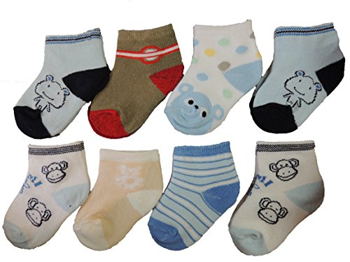 4 Paar Socken SET Baby Erstlingssöckchen in Geschenkbox BABYSOCKEN Söckchen TOP