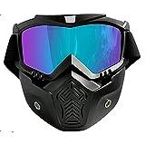 Unisex Gafas de esquí - TININNA Máscara y Gafas de Ski para el adulto Hombre y Mujer Espejo Anti-vaho Antiniebla Gafas para Esquiar y Deportes al Aire Libre-Marco negro mate, lente colorida