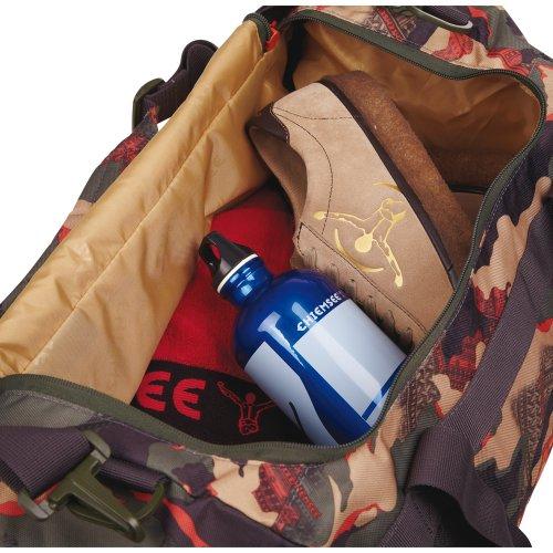 Chiemsee–Matchbag Borsone sportivo medio, Unisex, Sporttasche Matchbag Medium, Dots Black 1, 56 x 28 x 28 cm, 44 Liter camo tangerine