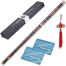 ammoon Enchufable Flauta de Bambú Amargo Dizi Tradicional Hecho a Mano Musical Chino Instrumento de Viento de Madera Clave de C Nivel de Estudio Profesional Actuación