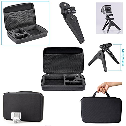 Descripción    Nota: La GoPro no está incluida.    Nota: Para Nikon, Sony Sports DV y otras cámaras de acción, se necesita otro adaptador de conversión para montar en esos accesorios. (El adaptador de conversión NO está incluido en este kit de acc...