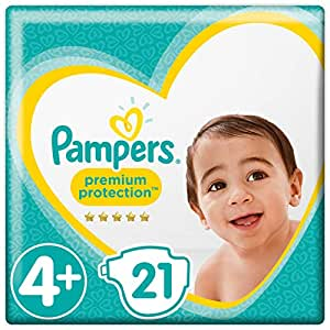 Pampers Premium Protection Windeln, Größe 4+ Maxi (10-15kg), 1er Pack (1 x 21 Stück)