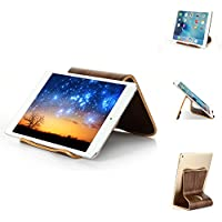 thanly Elegante Tablet supporto universale in legno naturale supporto dock per ipad 1 2 3 4 Mini Retina Air/Air 2 Google Nexus 7 9 10, Samsung Tab 2 3 4 7.0 8.0 Note 10.1 Tab Pro 8.4 dell venue 7 8 Pro