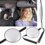 KKmoon Runde Auto Rückspiegel Bab Sicherheits Spiegel Einstellbare Rücksitz für Babys Easy View