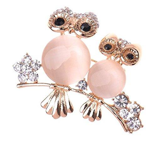 Nikgic Pink Owl Brosche Mode Elegante Diamant Brosche Frauen Kleidung Zubehör Täglichen Zubehör Frauen Geschenke