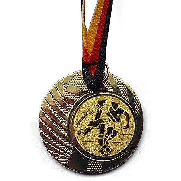 inkl Medaille - Medaillen Band e225 Fanshop L/ünen 10 St/ück Medaillen mit Alu Emblem Tanzen aus Metall 50mm // Gold