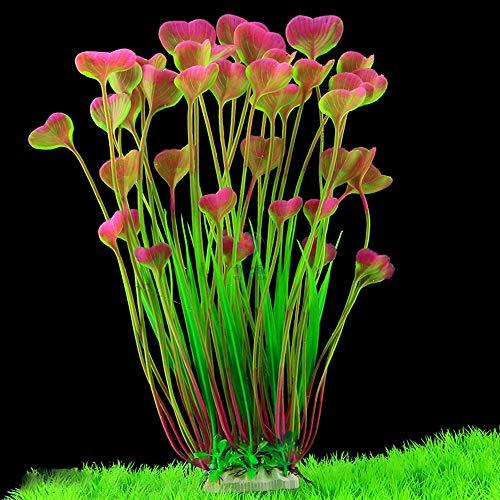 MINERLELE pianta Artificiale plastica per Acquario 40 di Altezza Decorazione per Acquario pianta Grande sicura per Tutti i Pesci Larghezza 18