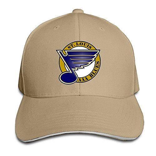 Sport-sandwich-cap (Hittings St.Louis Blues Snapback Hat Sports Sandwich Cap Natural)