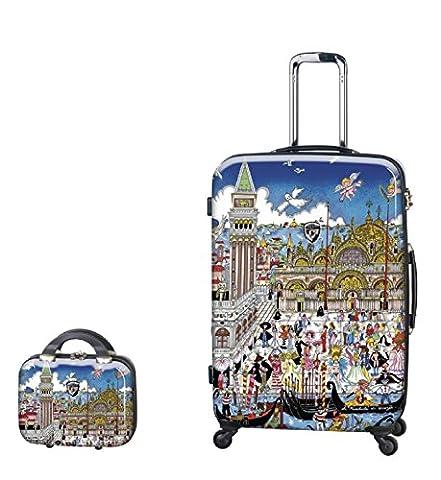 PREMIUM DESIGNER Hardside Luggage set 2 pcs. - Heys Artist Fazzino Venezia Trolley with 4 Wheels Large + Beauty Case 470576031&Artist&42+43