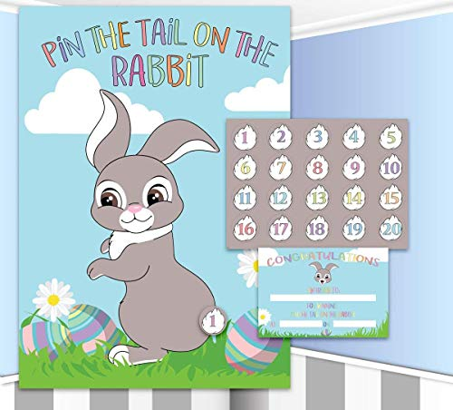 Robelli Pin The Tail on The Hase Ostern Kinder Spiel
