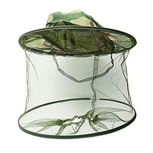 Moustiquaire anti-insectes Tête visage Pêche chasse Hat casquette de protection d'écran Motif camouflage