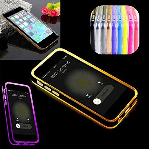 Flash Light LED Up Rappellez Case Cover Blink appels entrants LED pour l'iPhone 6 gris