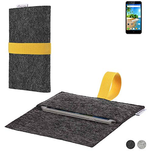 flat.design Handy Hülle Aveiro für Doogee Y6C passgenaue Filz Tasche Case Sleeve Made in Germany