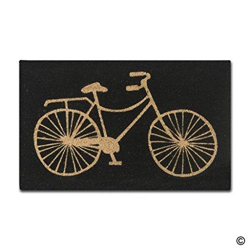 msmr Fußmatte Eingang Fußmatte Fahrrad Indoor Outdoor Dekorative Fußmatte Eintrag Way Matte Maschinenwaschbar Vlies Stoff TOP 45,7x 76,2cm (Outdoor-eintrag Möbel)