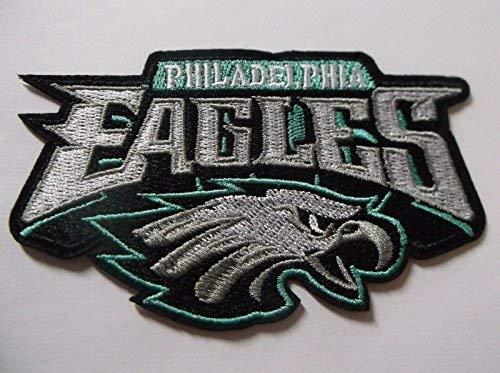 Aufnäher Philadelphia Eagles, bestickt, ca. 11,4 x 7 cm, zum Aufnähen, - Kostüm Philadelphia
