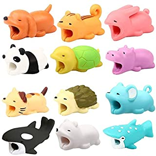 AmaMary Cute Cable Bite for iPhone Bable Bord Animal Phone Accessory Protects Color Random (4)