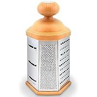 erolldeep Box–Grattugia quadrangolare in acciaio inox grattugia per parmigiano, vegetali