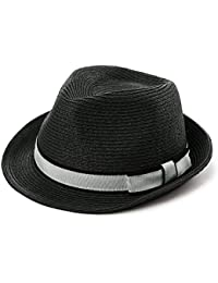 eebb9a0af0a SiggiHat Panama Summer Fedora Trilby Straw Sun Hats For Men Safari Beach Hat  - Foldable