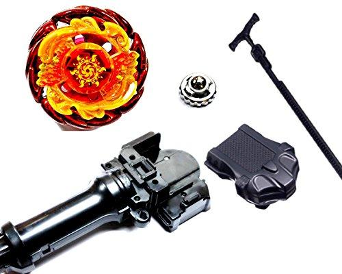 Rapdity Kampfkreisel StarterSet Mega Metal Fusion für Beyblade Masters 4D (Soll Blaze)
