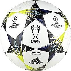 adidas Finale Kiev TT Balón, Hombre, (Blanco/Negro/Amasol/Azul), 5