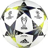 adidas Finale Kiev Trainingsball Fußball Ball White/Black/SYELLO/Bl, 4