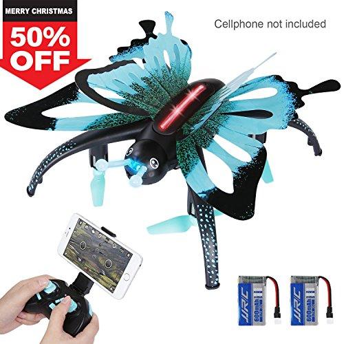 SGILE Mini Schmetterling Drohne, RC Gyro Drone mit Kamera, 4CH 6 Achsen Quadcopter Hexacopter mit Fernbedienung Geschenk