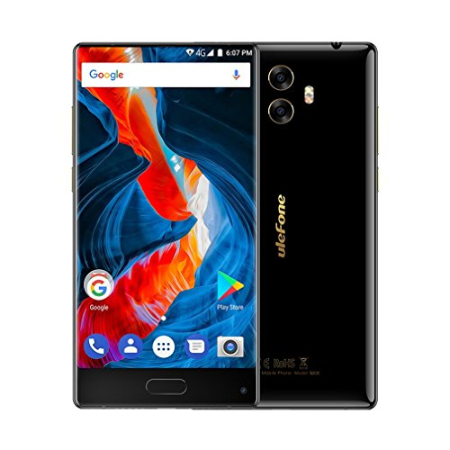 Smartphone Ohne Vertrag,UlefoneMIX 4G Acht-Core Android 7.0 Handy mit Fingerprintsensor, 5,5 Zoll Bezelless Touchscreen Phone,13MP Frontkamera/13MP&5MP Dual hinten-Kamera,4GB RAM+64GB ROM,3300mAh