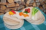 9x Pizza&Picknickbrett groß + Zwiebelkuchen und Döner-Servierbrett rechteckig mit Holzgriff, rund-mit umlaufender Rille - Ölrille / Saftrille -, 8x rund je 4 ca. 25/28 cm + 1x rechteckig ca. 22 cm, als Bruschetta-Pita-Döner-Naan-Roti-Ciabatta-Langos-Chubz-Servierbretter, Picknick-Schneidebrett Picknick-Schneidebrettchen, Picknickbrettchen,Anrichtebretter, Brotzeitbretter, Steakteller schinkenbrett rustikal, Schinkenteller von BTV
