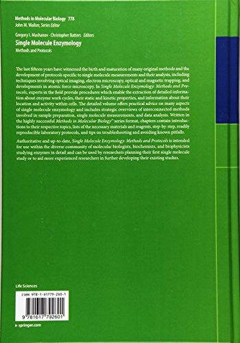Single Molecule Enzymology: Methods and Protocols (Methods in Molecular Biology)