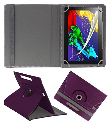Acm Rotating 360° Leather Flip Case For Lenovo Tab 2 A10-70 Tablet Cover Stand Purple  available at amazon for Rs.189