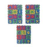 Buleerouy 36 Pcs Mini Taille Puzzle Chiffre Alphabet A-Z Lettres Mousse Mousse Enfant...