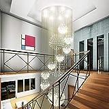 BCX Kronleuchter - Stilvolle Kristall Kronleuchter, Treppenhaus Duplex Villa Hotel Lobby, Innenbeleuchtung,60 * 200cm